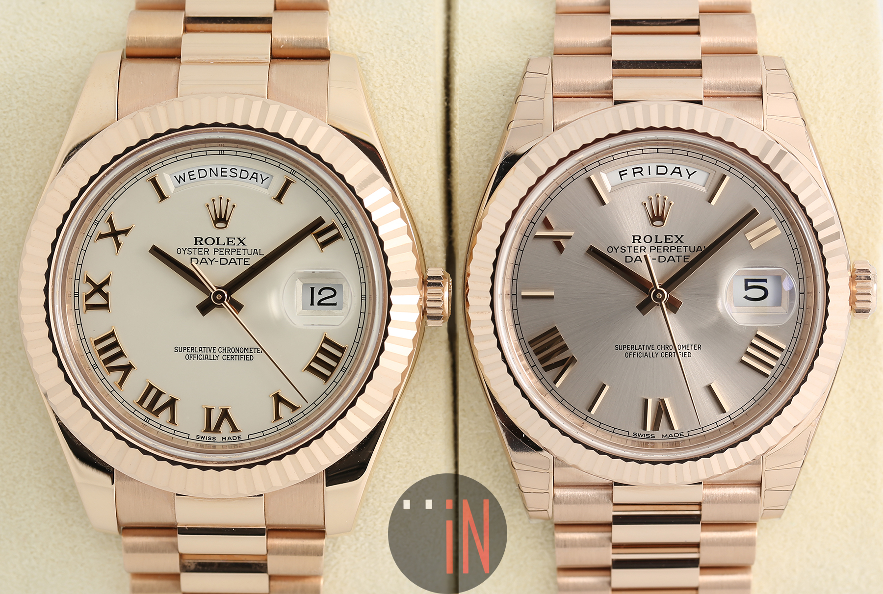 how to set time on rolex day date