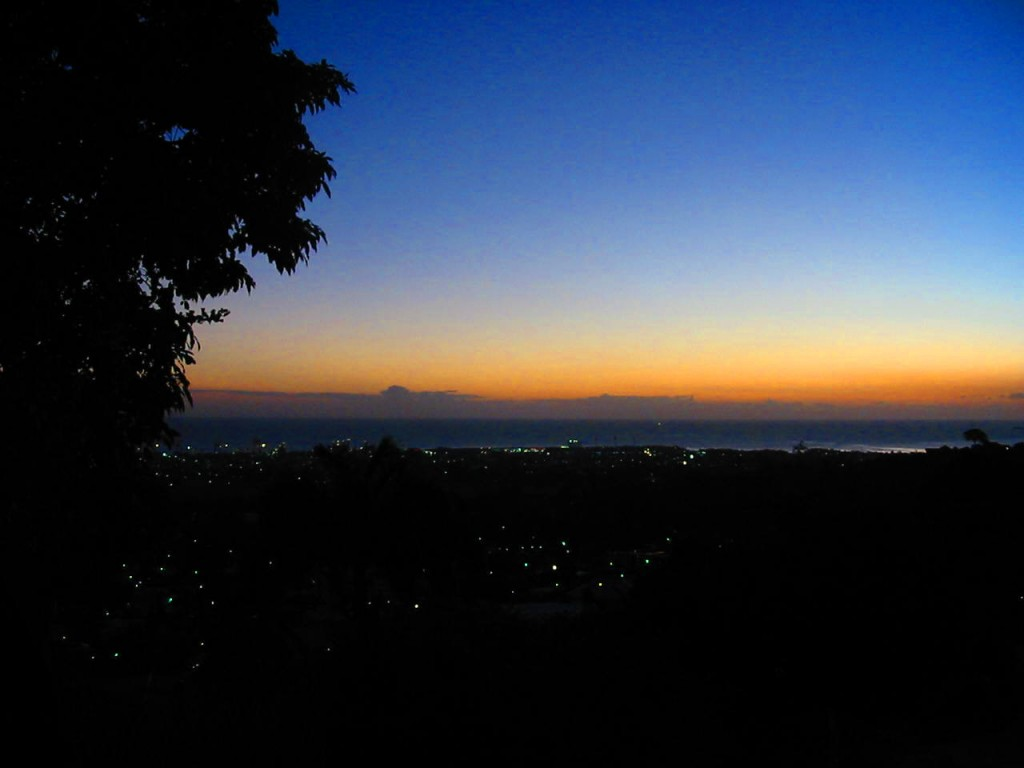 dusk in the hills above port of spain1