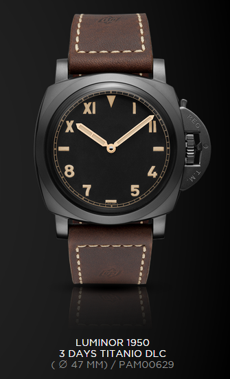 Officine-Panerai-Luminor-1950-3-Days-Titanio-DLC-PAM-629-EiT