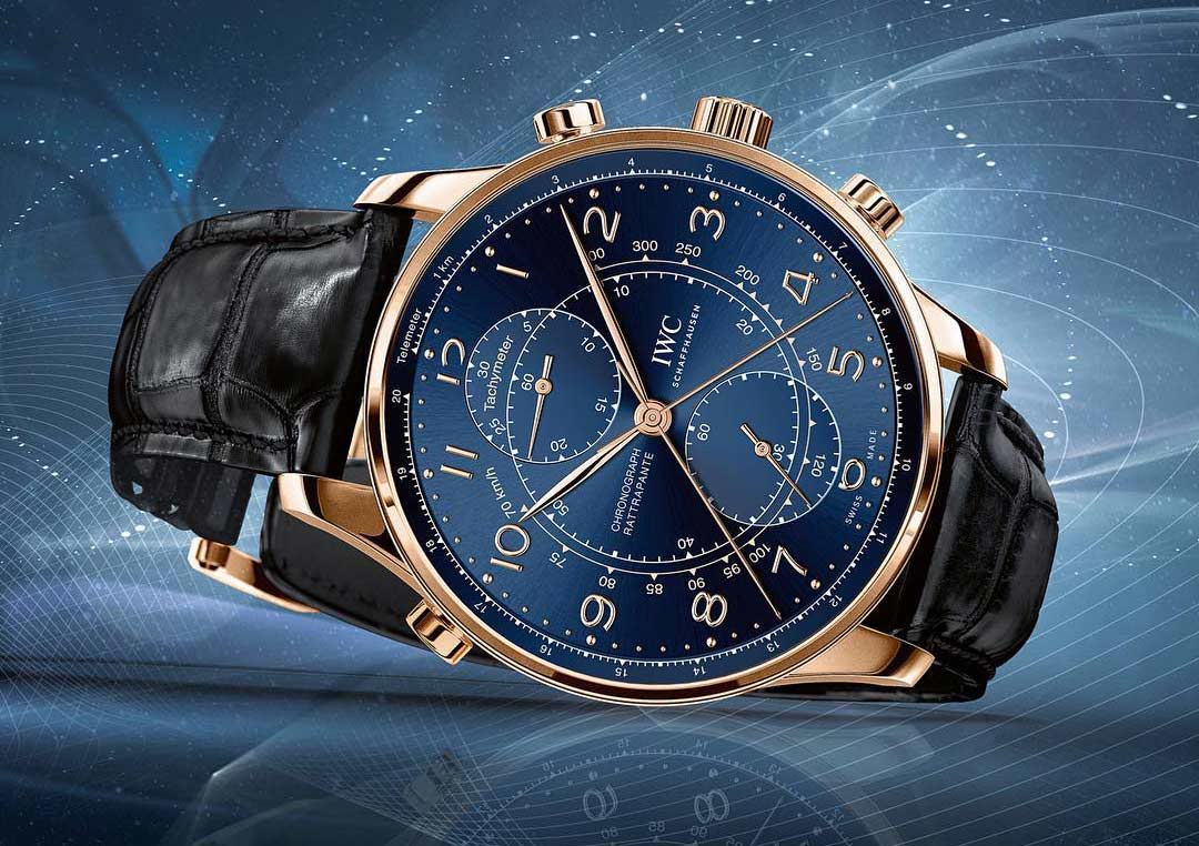 IWC Portugieser Chronograph & Automatic with Blue Dial