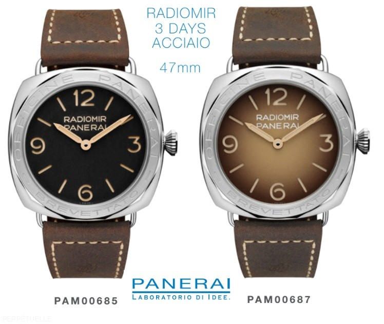 2017-Panerai-Radiomir-3-Days-Steel-PAM-685-and-PAM-687-black-and-brown-dial-Perpetuelle