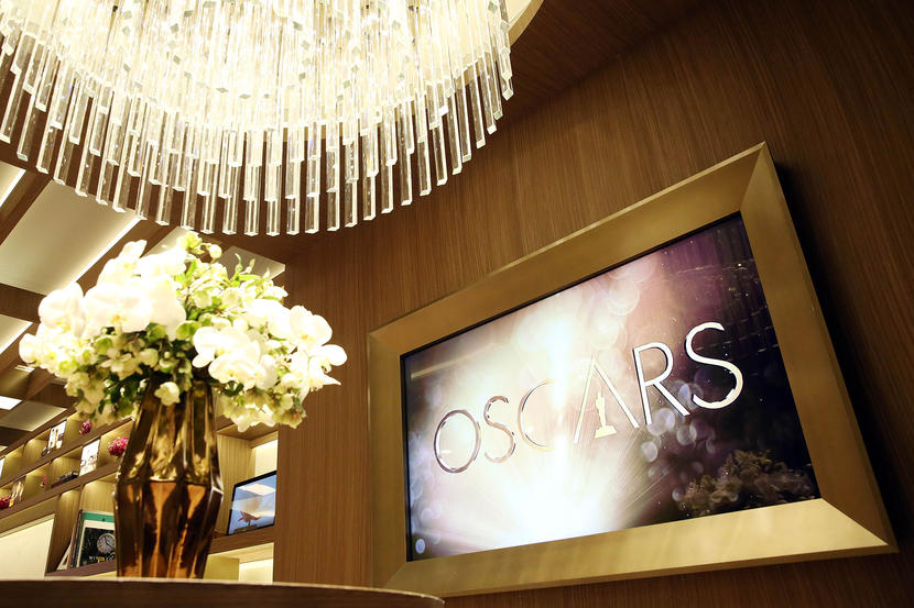 The Greenroom for the 88th Academy Awards designed by Rolex is seen in Los Angeles on Wednesday, Feb. 24, 2016. The Academy Awards will be held at the Dolby Theatre on Sunday, Feb. 28. (Photo by Matt Sayles/Invision/AP)