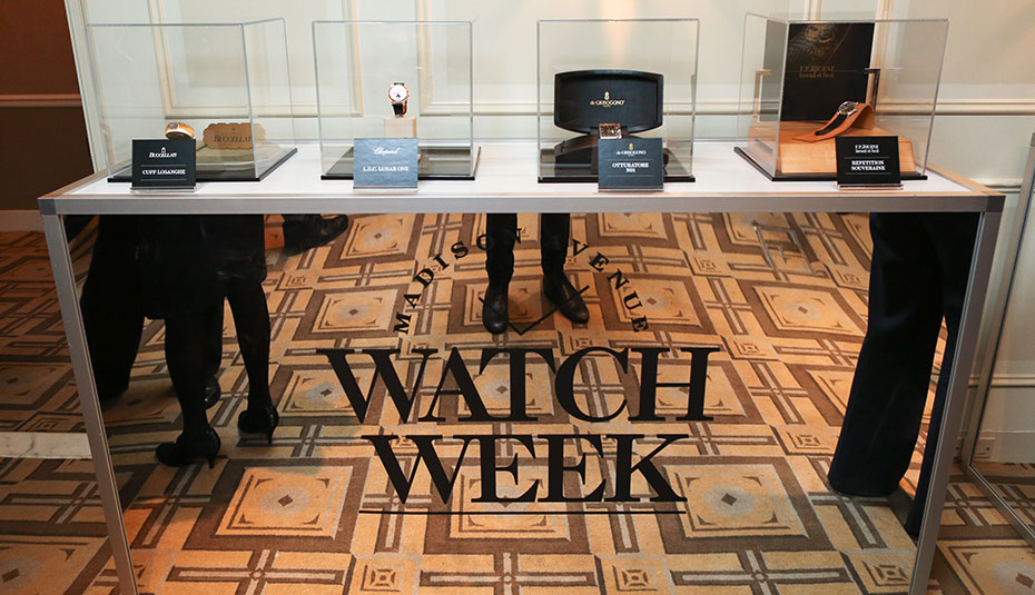 Madison Avenue Watch Week desk