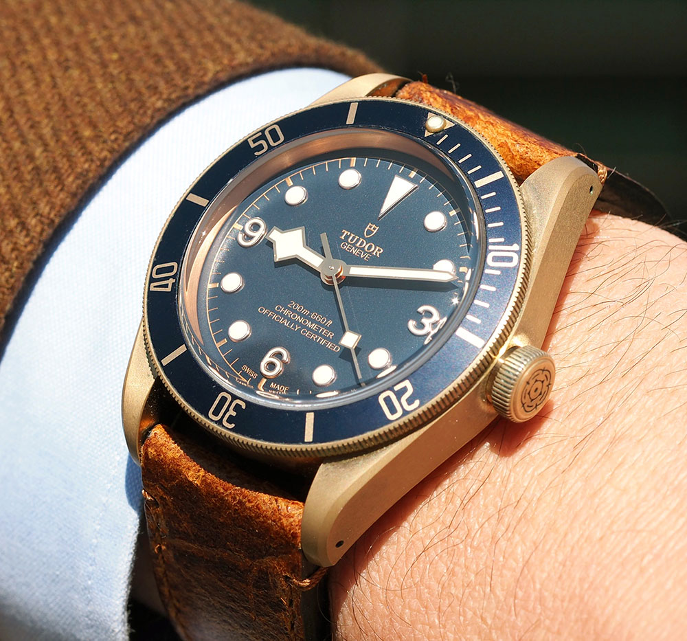 Tudor Heritage Black Bay Bronze Blue Watch