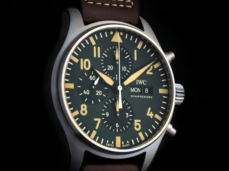 watches of switzerland 20th anniversary iwc pilots chronograph ltd ed