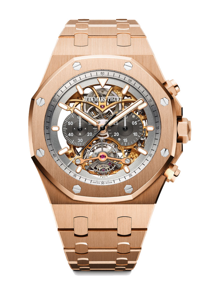 Audemars Piguet Royal Oak Tourbillon Chronograph Openworked Material Good in 18k rose gold -26347OR-01_2048x2048