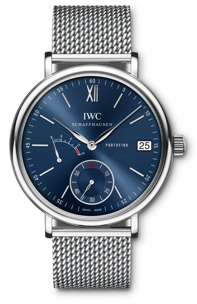 IWC Portofino Hand-Wound Eight Days-blue-dial