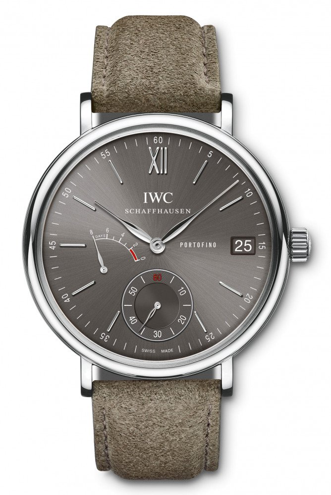 IWC Portofino Hand-Wound Eight Days-sliate-dial