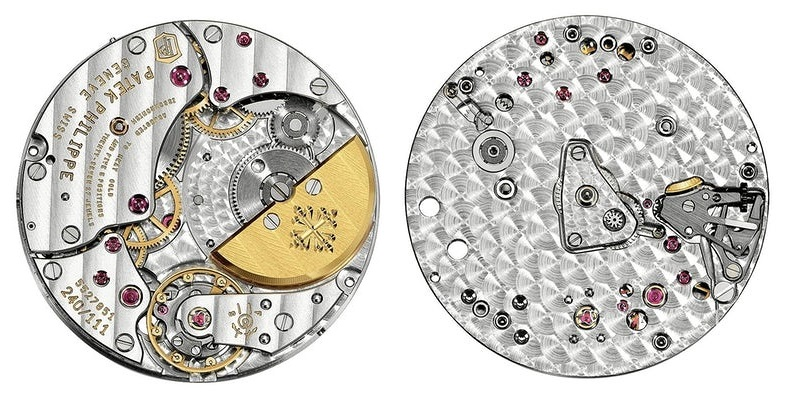 Patek-Philippe caliber 240 with 27 jewels and 21600