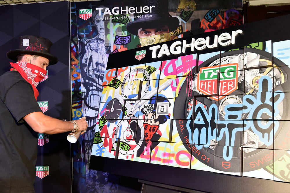 MIAMI, FL - DECEMBER 06:  Alec Monopoly attends the TAG Heuer celebration of Art Basel Miami 2018 with the launch of Alec Monopoly's special edition timepieces on December 6, 2018 in Miami, Florida.  (Photo by Eugene Gologursky/Getty Images for TAG Heuer )