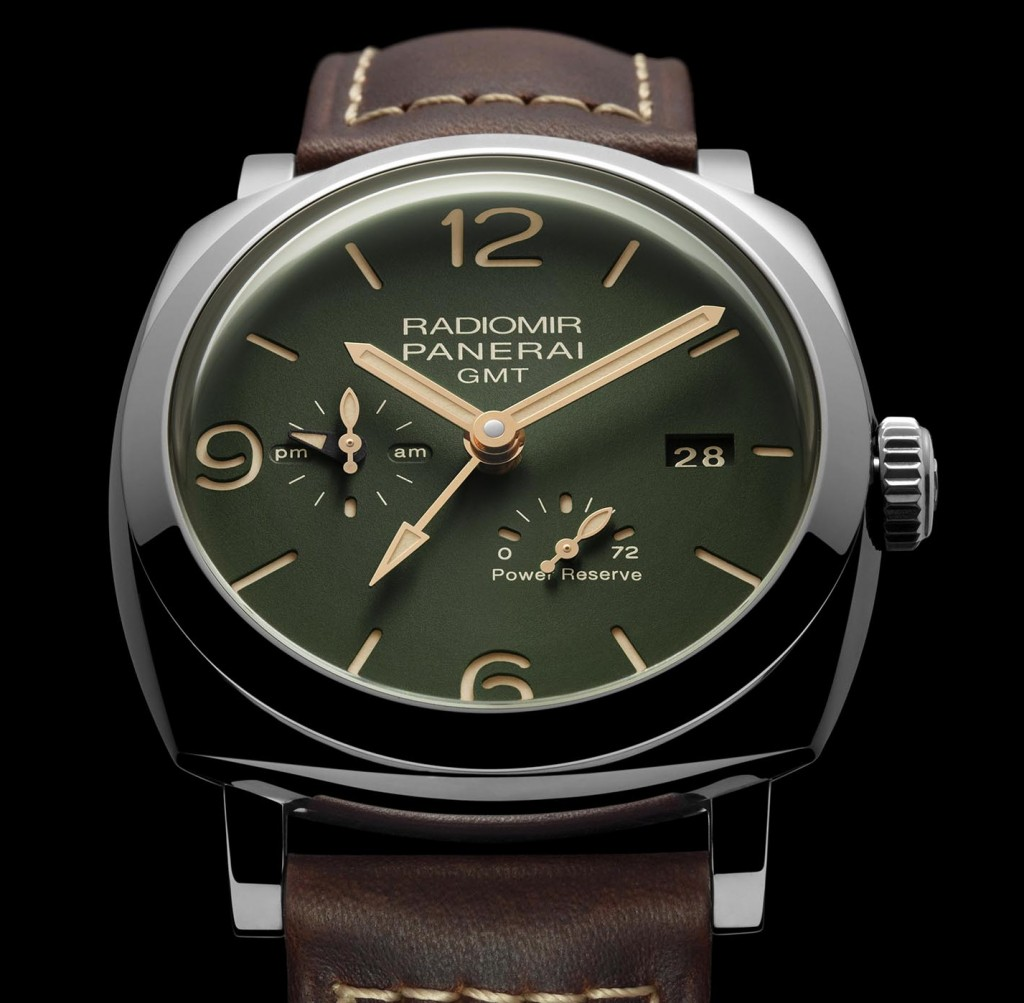 Panerai-Radiomir-1940-GMT-Power-Reserve-45mm-military-green-PAM00999-2