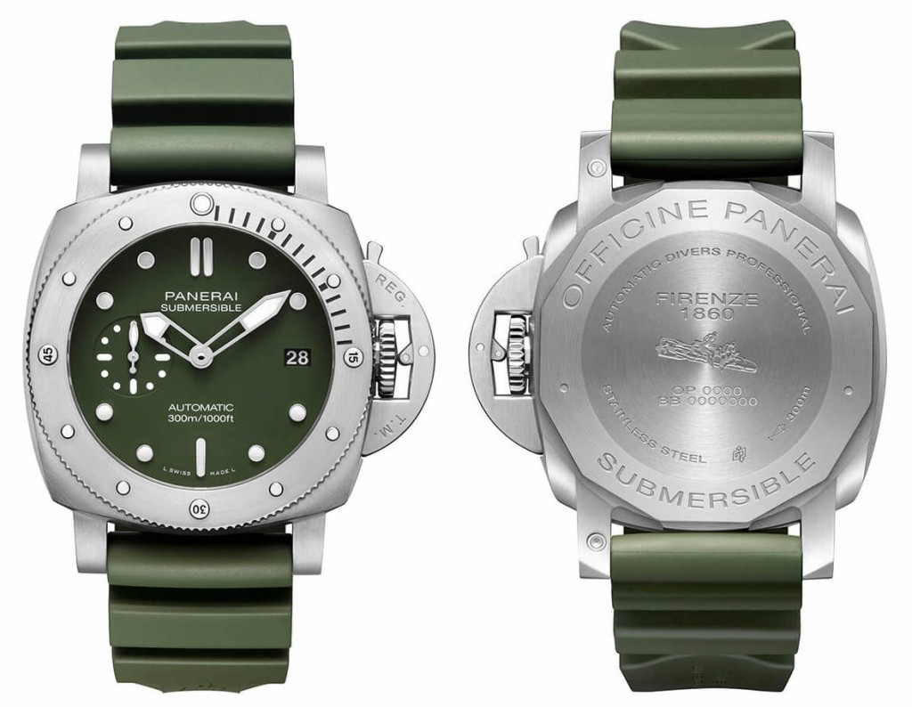 Panerai-Submersible-Verde-Militare-Front-and-Back